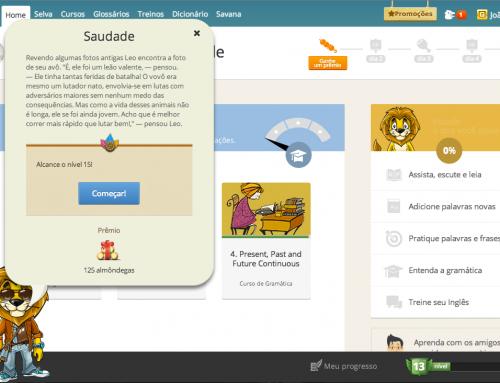 Aprendizagem imersiva no LinguaLeo