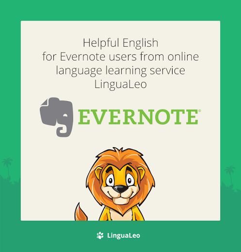 Evernote LinguaLeo Notebook